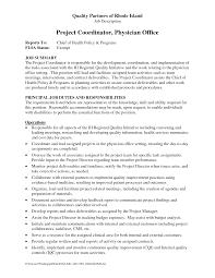 sample resume for project coordinator 6 best images of appeals coordinator job description engineer program coordinator job description resume
