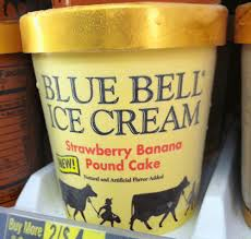 junk food guy seeking blue bell strawberry banana pound cake ice