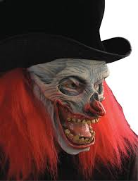scary clown halloween mask now that u0027s funny skeletal evil clown mask with hat on sale 37 48