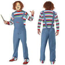 Killer Doll Halloween Costume Chucky Costumes Men Ebay