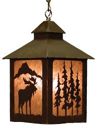 Lantern Pendant Light Fixture Rustic Chandeliers Moose Lantern Pendant Light Black Forest Decor