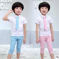 boys light blue dress pants summer baby clothing sets children suit boys wedding dress