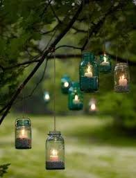 How To Do Landscape Lighting - how fun are these jar lanterns love it so doing this for the