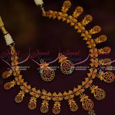 nl12406 ruby emerald stylish fashion jewellery matte gold