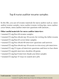Resume Sample Questions And Answers by Top8nurseauditorresumesamples 150528050921 Lva1 App6892 Thumbnail 4 Jpg Cb U003d1432789817