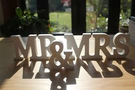 mr and mrs table decoration mr mrs white wooden letters wedding top table decoration mr and