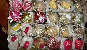 vintage mercury glass ornaments collection on ebay