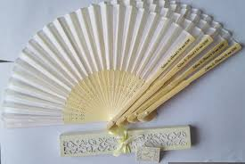personalized fans for wedding support printing text for fans with retail gift box