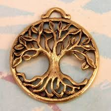tree of pendant antique gold ag194
