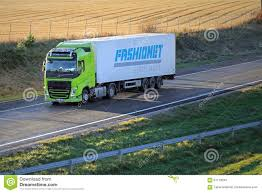 volvo semi models lime green volvo fh semi truck on motorway editorial stock image