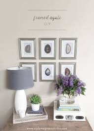 Wall Collection Ideas by Diy Framed Agate Collection Make Design Diy Frame And Art Ideas