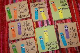 cards for sick friends polka dotty place get well soon wishes