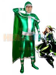 Rogue Halloween Costume Men Rogue Green Superhero Costume