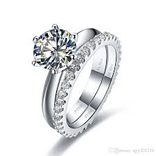 engagement marriage rings images 3ct genuine synthetic diamonds engagement rings set 925 sterling jpg