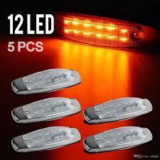 Side Marker Light 12led Panel Under Cab For Peterbilt 379 Amber
