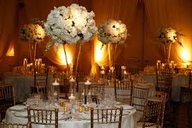 gold centerpieces timeless ivory gold wedding with scottish traditions in chicago