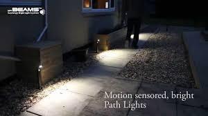 mr beams security lights mr beams ultrabright path lights youtube