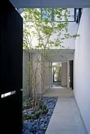 minimalist courtyard design private house in japan entrymodern
