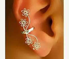 ear clasp silver ear cuff ear wrap ear cuff earcuff jewelry