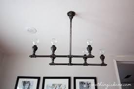 industrial pipe light fixture diy steel pipe chandelier black pipe light fixture meedee designs