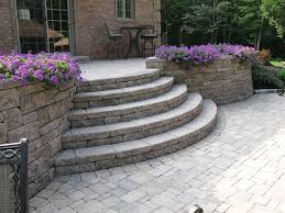 Patio Retaining Wall Pictures Creative Outdoor Stairs Options Using Allan Block Retaining Walls