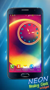 analog clock widgets for android neon analog clock widget 2 2 apk for android aptoide