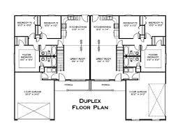 Duplex Plans With Garage Duplex Floor Plan Interesting Pinterest Duplex Floor Plans