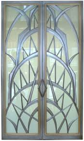 Art Deco Style Art Deco Style Glass Doors Created By Eric David Laxman For A