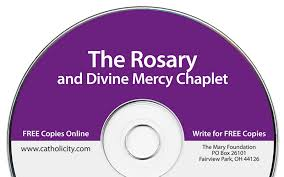 rosary cd the rosary and mercy chaplet free cd from the