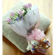 bears delivery bouquets flowers delivery singapore iv260 bouquet pink