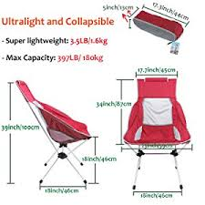 Ultra Light Folding Chair Amazon Com Yahill New Design Extended Portable Ultralight