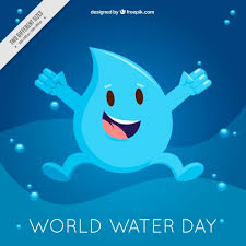 happy water world day drop background vector free