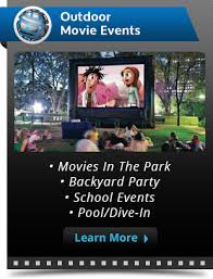 rentals for projector and screen rental outdoor company funflicks