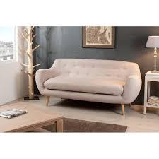 canapé tissu beige canapé 3 places scandinave tissu beige 190x85x85 pablo pier import