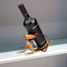 aliexpress com buy tooarts 3d metal yoga cat figurines wine aliexpress com buy tooarts 3d metal yoga cat figurines wine holder wine shelf metal sculpture animal art decoration interior decoration crafts from