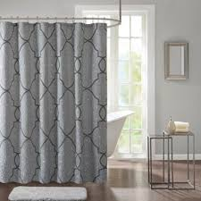Silver Shower Curtains Buy Silver Fabric Shower Curtain From Bed Bath U0026 Beyond