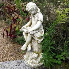 reading garden statue finish