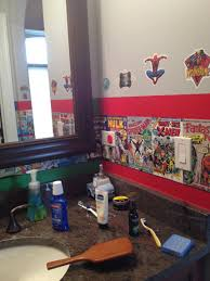Marvel Bathroom Set Wall Tiles For Childrens Room Bathroom Fish Decor Wash Brush Flush