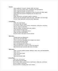 Bathroom Cleaning Checklist Template Sample Cleaning Checklist 7 Documents In Word Pdf