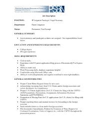agreeable resume secretary job description in executive secretary