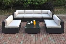 foremost casual 10 piece ellendale steel patio conversation set