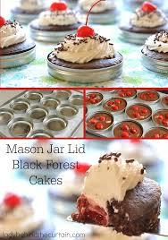 jar cakes jar lid black forest cakes