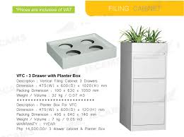File Cabinet Drawer Dimensions Jecams Inc Vfc 3 Drawer With Planter Box