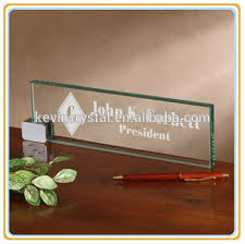 Name Plates For Office Desk Jade Glass Table Name Plates Customized Buy Jade Glass Table