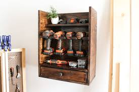 diy cordless tool charging station with plans black decker