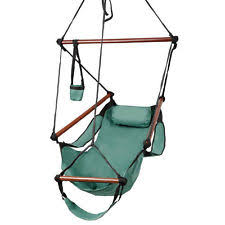 patio hammock chair w wood stretcher outdoor cradle garden swing