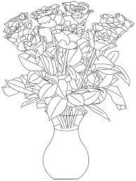 Vase Of Flowers Drawing Free Flower Digital Stamps Digital Stamps Pinterest Flower