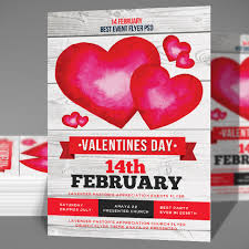 valentines day flyer psd template free download on pngtree
