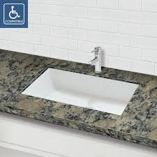 solid surface rectangular undermount bathroom sink rustic