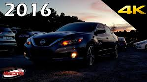 nissan altima 2016 interior at night 2016 nissan altima interior and exterior in 4k youtube